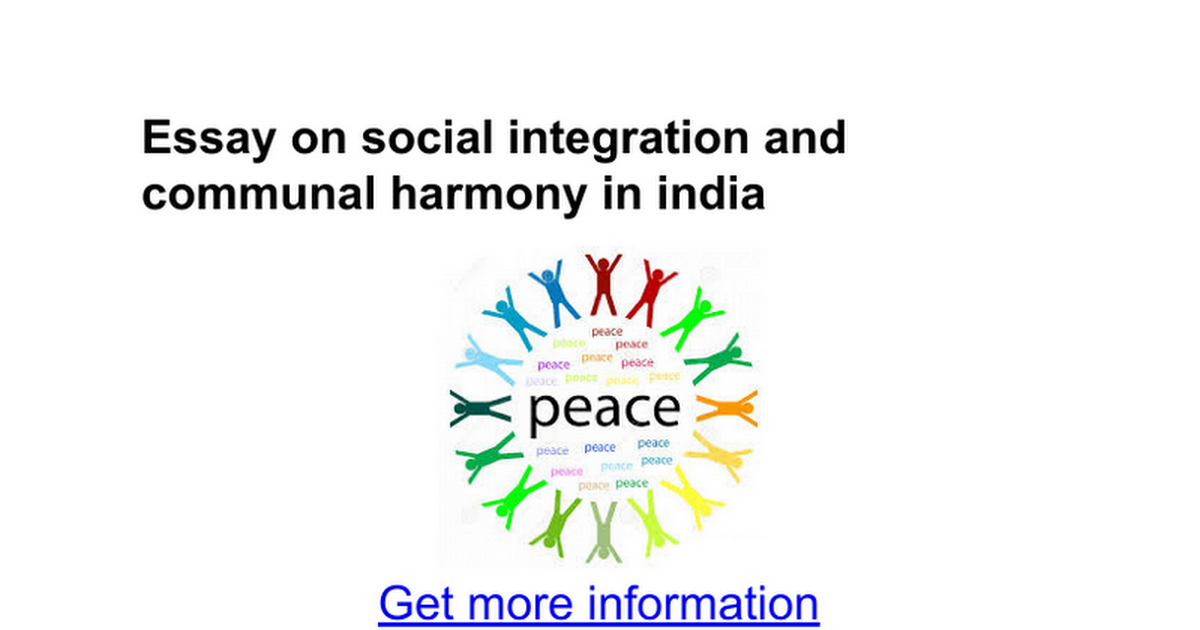 essay on social integration and communal harmony in google  essay on social integration and communal harmony in google docs