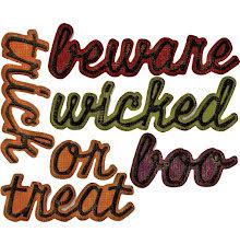 Tim Holtz Sizzix Thinlits Die set 12/Pkg - Shadow Script Halloween