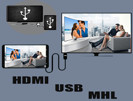 screenshot of Mobile Connect To TV USB