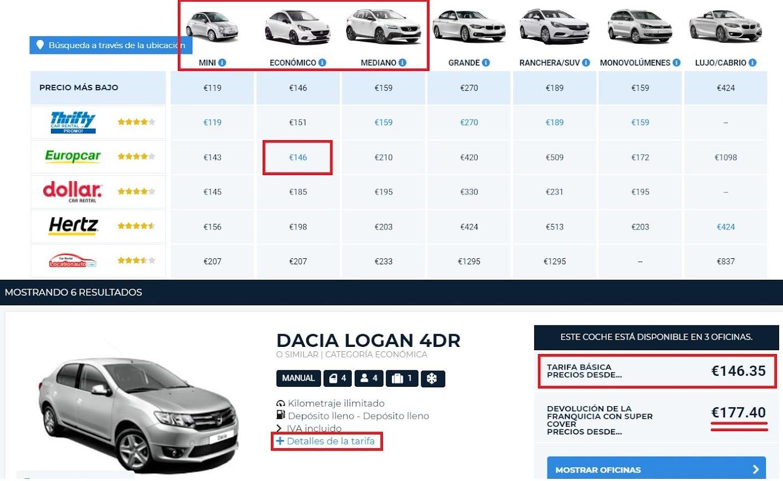 alquilar coche en Marruecos