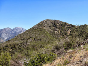 Photo: View east toward Sunset Peak. Thunder Mt (8587') and Telegraph Peak (8985') are on the far left.