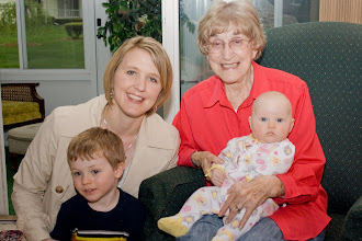 Photo: My 89-year-old grandma, my MI niece & nephew, and me!