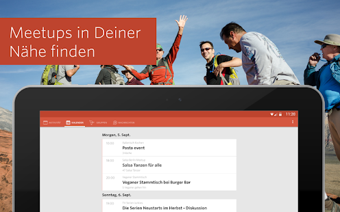 Meetup – Finde deine Community – Miniaturansicht des Screenshots