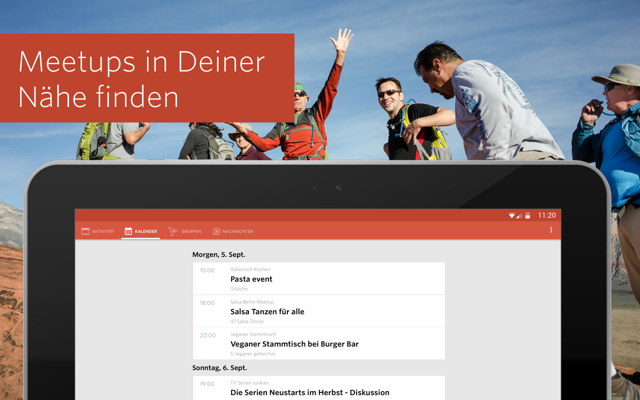 Meetup – Finde deine Community – Screenshot