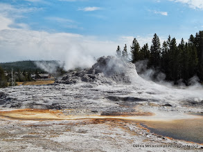 Photo: North side of Castle Geyser cone