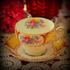 Cup and saucer by Rhonda Kay - Artistic Objects Cups, Plates & Utensils