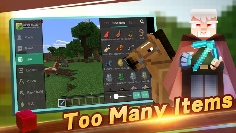 Master for Minecraft(Pocket Edition)-Mod Launcher APK Cracked Free