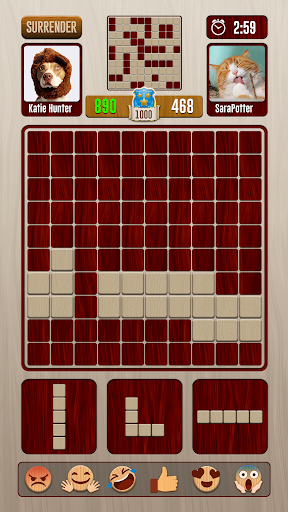 Screenshot for Block Puzzle Woody Battle Dual PvP in United States Play Store
