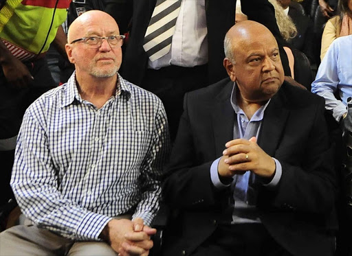 Derek Hanekom and Pravin Gordhan met the wrath of youths calling for expropriation of land without compensation. / THULANI MBELE