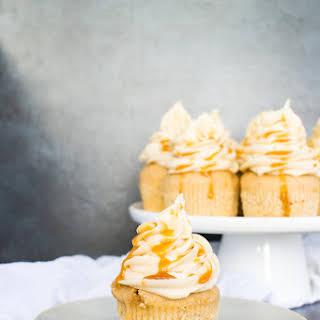 Vanilla Bourbon Caramel Cupcakes.