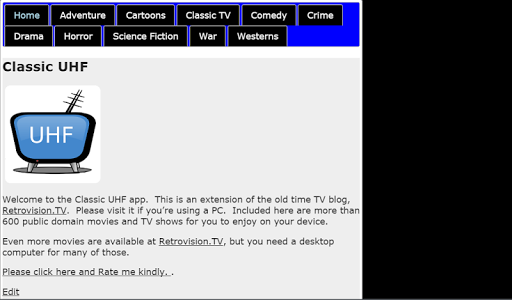Classic UHF - Movies and TV 2.4 screenshots 2