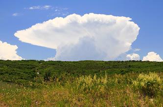 Photo: Un drôle de nuage dans le ciel du Colorado.