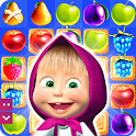 Masha and The Bear Jam Day Match 3 games for kids icon