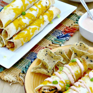 Freezer Recipes - Chicken and Black Bean Taquito Recipe with Sour Cream Sauce