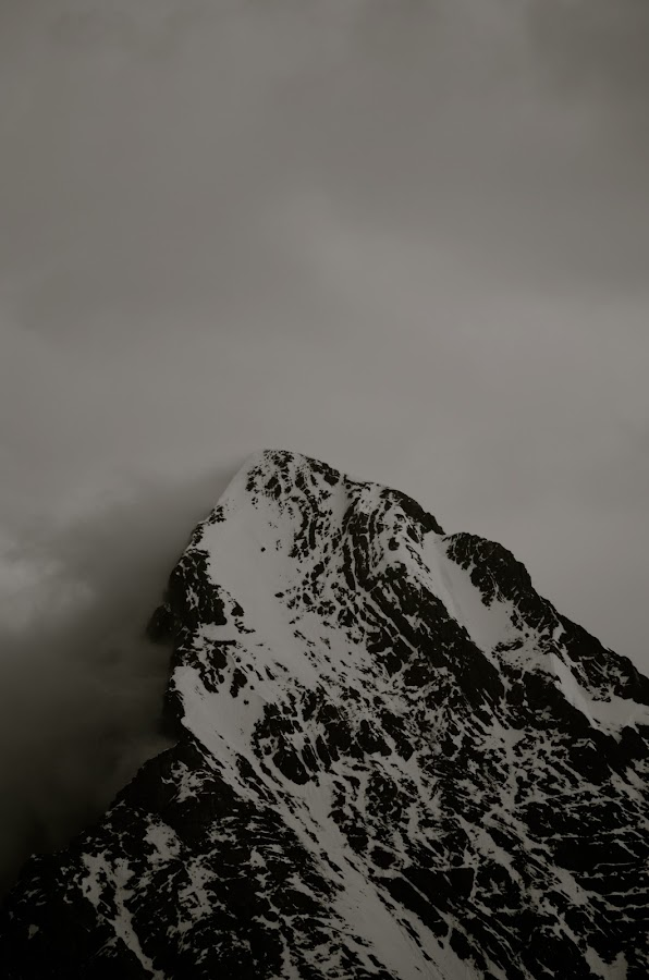 Eiger by Seamus Crowley - Landscapes Mountains & Hills ( clouds, mountain, peak, snow, switzerland, rock, eiger, storm, ridge, alps )