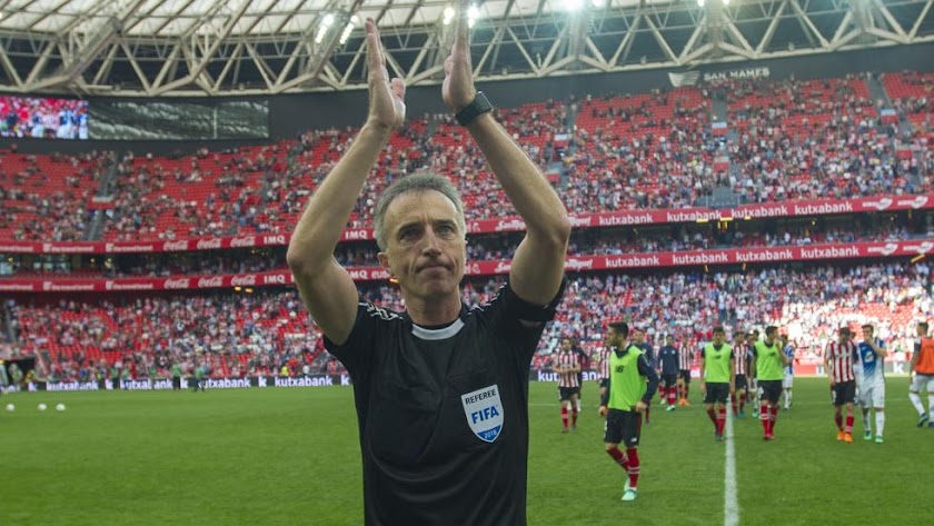 Borbalán se despedía en San Mamés del arbitraje.