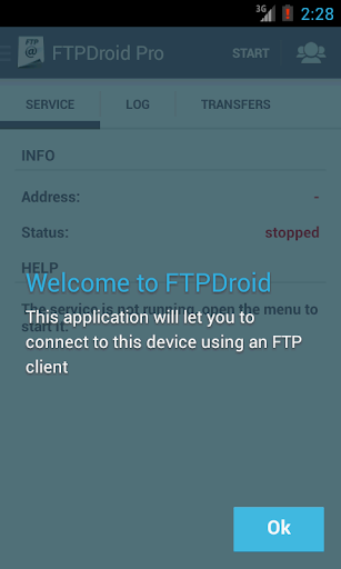 FTPDroid 2.1.2 screenshots 1