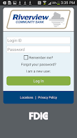 Screenshot of Riverview Mobile Banking