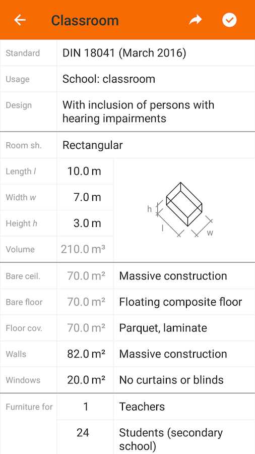 Knauf AMF Room Acoustics Calculator- screenshot