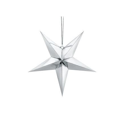 Pappersstjärna silver - 45 cm