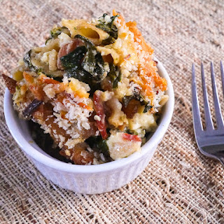 Spinach, Bacon and Four Cheese Macaroni and Cheese.
