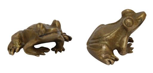 Groda mini dekoration i brons ELDgarden