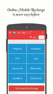 MobiLess - Online Recharge screenshot 1