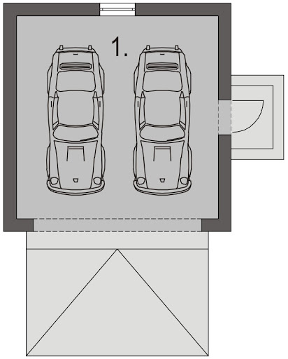 Garaż G3 - Rzut garażu