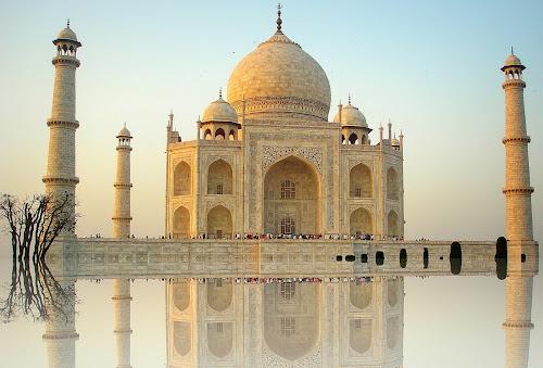 The magnificent monument by PINAKI MITRA - Buildings & Architecture Public & Historical ( muslim, marble, reflection, mausoleum, islamic, uttar pradesh, architecture, mumtaj mahal, taj mahal, agra, monument, india, minarets, mughal,  )