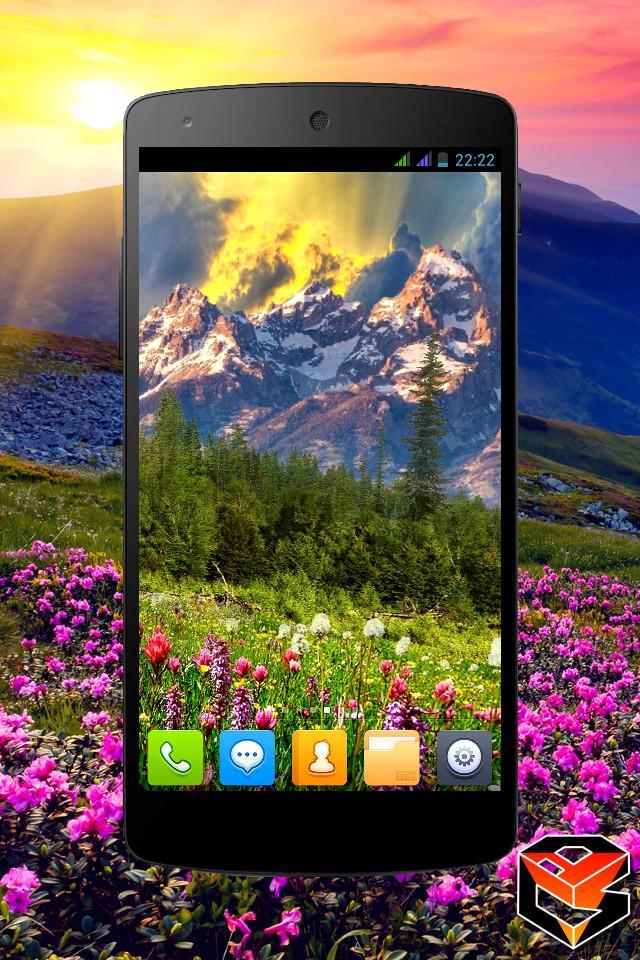 Mountain Flowers Pro Live Wallpaper Screenshot 1