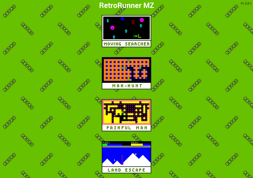 RetroRunner MZ- screenshot