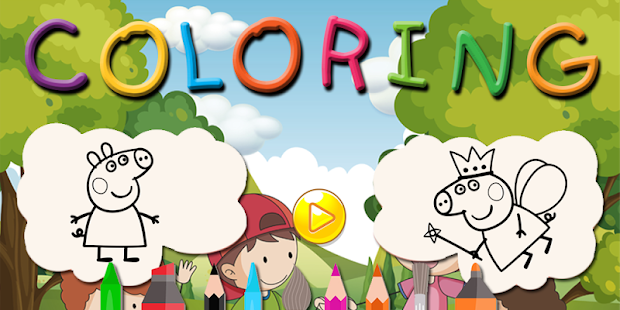 Peppa Pig Coloring book - Coloring Peppa Pig APK APK Captura de tela ...