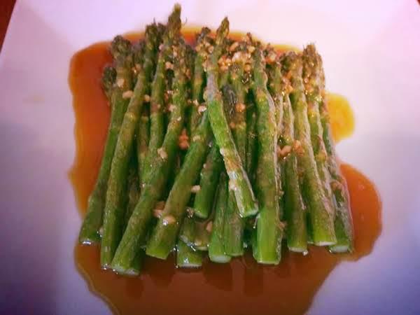 Fried Asparagus With Miso Sauce