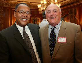 Photo: Chief Justice Roderick Ireland and Shep Scheinberg.