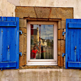 Window by Dobrin Anca - Buildings & Architecture Architectural Detail ( window, blue, brittany, fun, sun,  )