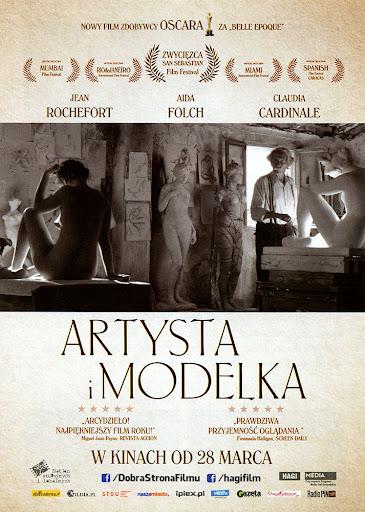 Przód ulotki filmu 'Artysta i Modelka'