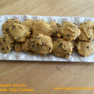 Pumpkin Ricotta Chocolate Chip Cookies