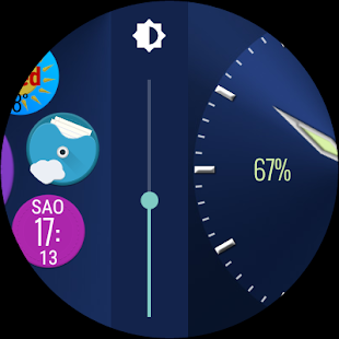 Bubble Cloud Wear Launcher Watchface (Wear OS) Screenshot