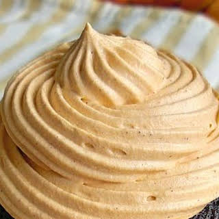 Chocolate Spice Cupcakes with Pumpkin Spice Pudding Frosting.