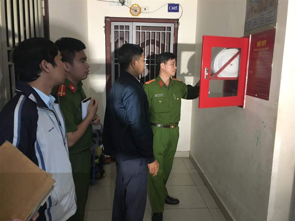Chấn chỉnh công tác an toàn PCCC tại Chung cư Vinaconex9, Đại lộ Lê-Nin, Tp.Vinh