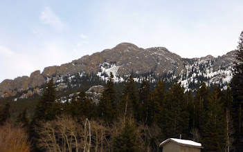 Photo: View up to the mtns we climbed from the parking lot