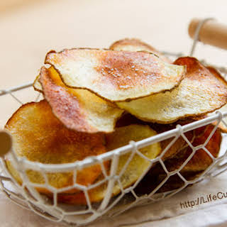 Homemade Baked Potato Chips.