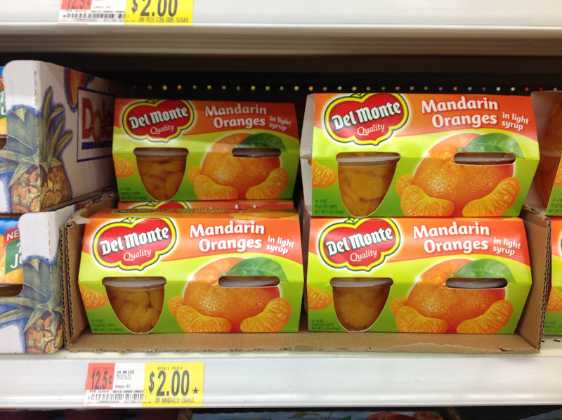 Photo: I decided not to buy the mandarin oranges because although my kids love them, I am not sure how well they would work in the yogurt parfaits.