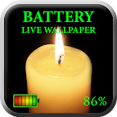 Battery Candle Live Wallpaper