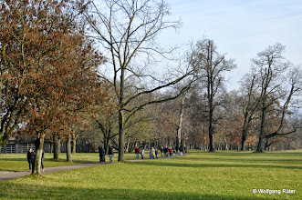 Photo: Sonntagsbesucher im FFH Rosensteinpark. Links die Wilhelma