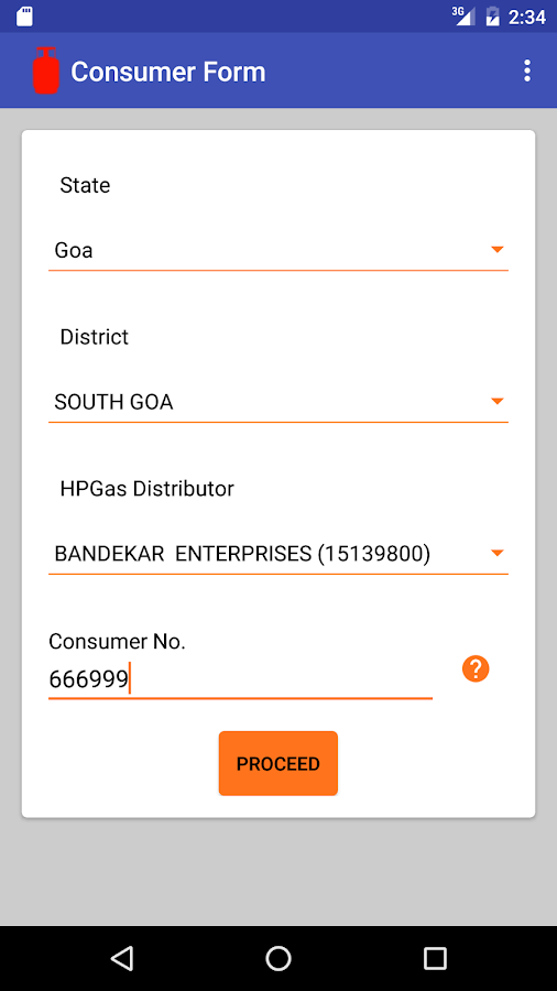 HP Gas GasWala- screenshot
