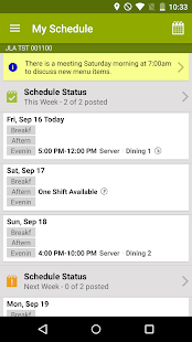 HotSchedules- screenshot thumbnail