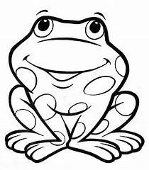 Obraz znaleziony dla: Żabka-kolorowanka dla dzieci