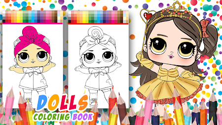 Dolls Coloring Book Pages For Girls APK screenshot thumbnail 8