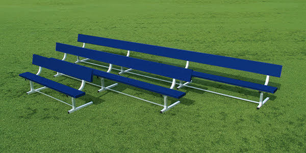 Powder Coated Bench with Backrest